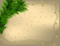 Christmas background with frame. And some snowflakes Stock Photos