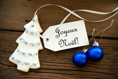 Christmas Background with French Christmas Greetings Royalty Free Stock Images