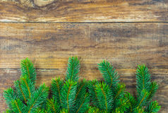Christmas background with fresh green fir tree branches decoration. Royalty Free Stock Photo
