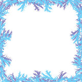 Christmas background. Frosty patterns. Frame with Stock Images