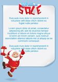 Christmas Background with Funny Santa. Vector Stock Image