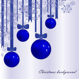 Christmas background with fur-tree spheres Royalty Free Stock Photography