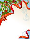 Christmas background with garland Stock Image