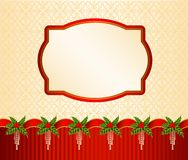 Christmas background with garland. Stock Images