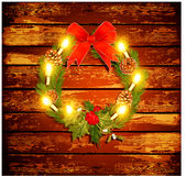 Christmas background with garland Stock Photo