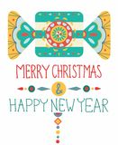 Christmas background with geometric ornament Stock Photo