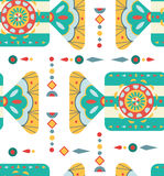 Christmas background with geometric ornament, seamless pattern Royalty Free Stock Images