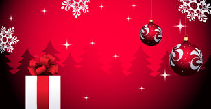 Christmas background with gift Royalty Free Stock Photo