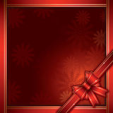Christmas background with gift bow Stock Images