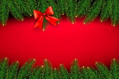 Christmas background with gift bow Royalty Free Stock Image