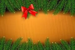 Christmas background with gift bow Royalty Free Stock Photography