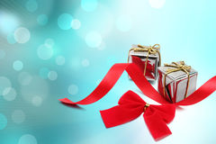 Christmas background with gift box Stock Photography