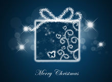 Christmas background with gift box. Royalty Free Stock Photos