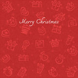 Christmas background with Gift box Royalty Free Stock Photo
