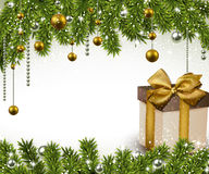 Christmas background with gift box. Stock Photography