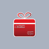 Christmas Background With Gift Box Stock Images