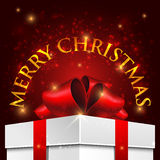 Christmas background with gift box. Holiday Christmas background with gift box Stock Photos