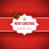 Christmas Background with Gift Box - Illustration Royalty Free Stock Photo