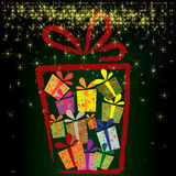 Christmas background with gift boxes Royalty Free Stock Photography