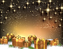 Christmas background with gift boxes. Royalty Free Stock Images