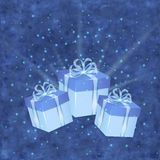 Christmas background with gift boxes Royalty Free Stock Images