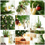 Christmas background with gift and Xmas tree Royalty Free Stock Image