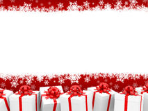 Christmas background with giftboxes Stock Images