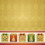 Christmas background with gifts,  Stock Photography