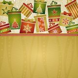 Christmas background with gifts Royalty Free Stock Photos