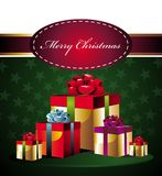 Christmas background with gifts Royalty Free Stock Photo