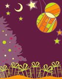 Christmas background with the gifts Stock Photos