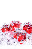 Christmas background with gifts Stock Image