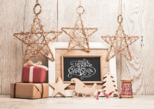 Christmas background with gifts royalty free stock image