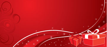 Christmas background with gifts, vector Stock Photos