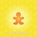 Christmas background with gingerbread Stock Images
