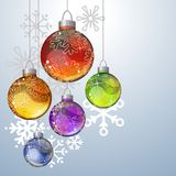 Christmas background with glass balls Royalty Free Stock Photos
