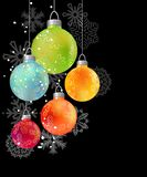 Christmas background with glass balls Royalty Free Stock Images