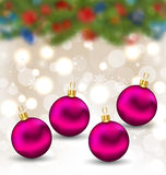 Christmas background with glass balls. Illustration Christmas background with glass balls - vector Stock Photography