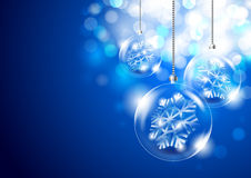 Christmas background with glass balls Stock Image