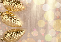 Christmas background and the glass cones Stock Photos