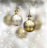 Christmas background. Glimmered Christmas background with evening balls Royalty Free Stock Photos