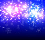 Christmas background with glittering lights Stock Photo