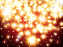 Christmas background. With glittering stars Stock Photos