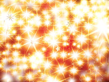 Christmas background. With glittering stars and balls Stock Image