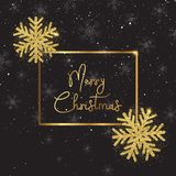 Christmas snowflake background with glitter design. Christmas background with glittery snowflakes and decorative text vector illustration