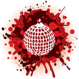 Christmas Background - Globe. Grungy Christmas Decoration With Red Splatters royalty free illustration