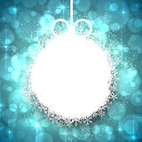 Christmas background with glowing snowflakes. Royalty Free Stock Photos