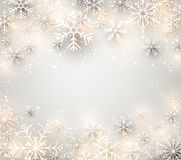 Christmas background with glowing snowflakes. Royalty Free Stock Photo