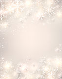 Christmas background with glowing snowflakes. Stock Photos