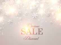 Christmas background with glowing snowflakes. Royalty Free Stock Image